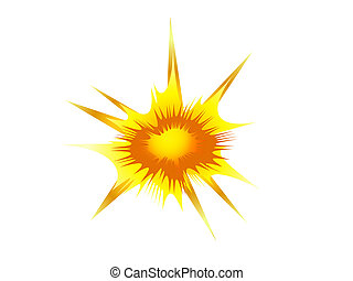 explosion, blast symbol element vector illustration
