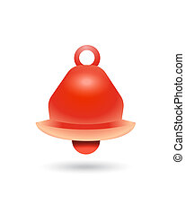 alarm bell symbol icon isolated vector warning