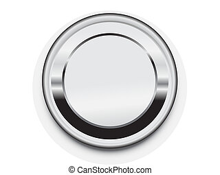 metal blank button frame vector design elemet