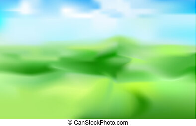 Vector blurred background of mountain landscape