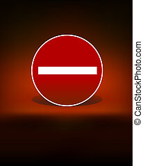 stop sign black dark background vector
