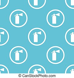 Fire extinguisher sign blue pattern - Image of fire...