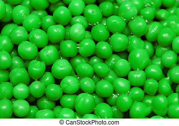 Close up of background with green round shapes