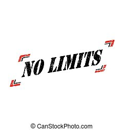 No Limits - Grunge rubber stamp with text No Limits,vector...