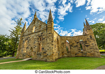 Port Arthur Historic Site - Ruins of the Church Convict,...