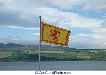 The Royal Flag of Scotland -  Rampant Lion