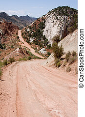 Cottonwood Canyon Road - Rugged, remote dirt road leading...
