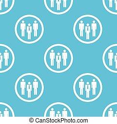 Work team sign blue pattern