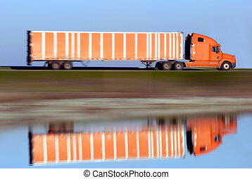 Trucking Magic - Panned Motion Blur of Eighteen Wheel Truck...