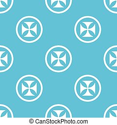 Maltese cross sign blue pattern - Image of maltese cross in...