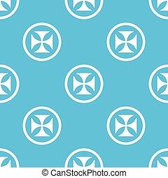 Maltese cross sign blue pattern - Image of maltese cross in...