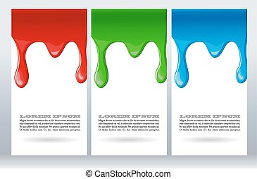 Paint dripping on white card