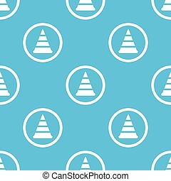 Traffic cone sign blue pattern - Image of traffic cone in...