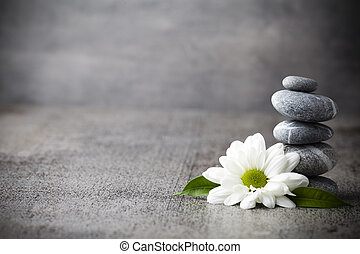 Wellness background - Spa stones treatment scene, zen like...