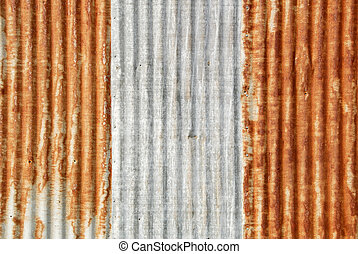 Corrugated Iron - Background of Well Worn Corrugated Iron...