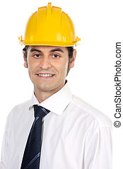 young architect - a young architect a over white background