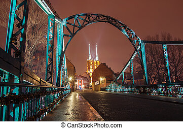 Wroclaw - Old Town at night, Wroclaw, Poland