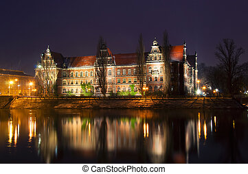 Wroclaw - Museum on the banks of the River Oder in Wroclaw