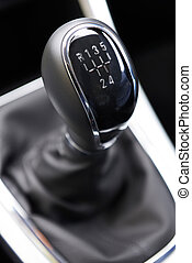 Close Up Of Car Gear Shift