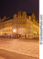 Wroclaw - Old town at night, Wroclaw Poland