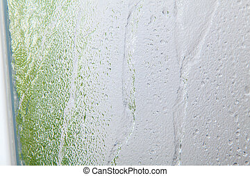 Shower room - Glass texture background on shower room in...