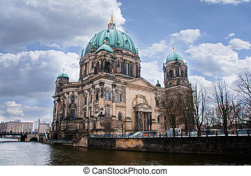 Berlin Dom in winter day