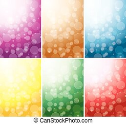 abstract color backgrounds - bokeh