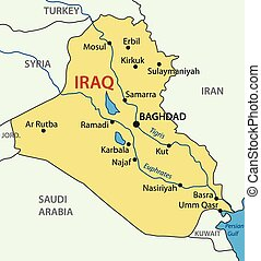 Republic of Iraq - vector map
