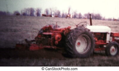 1957 - Tractor Digging Trenches For - Original vintage 8mm...