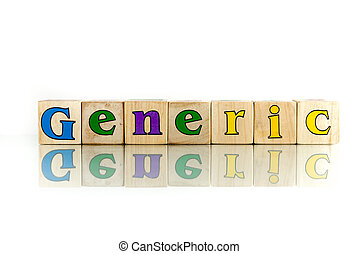 generic - generic colorful wooden word block on the white...