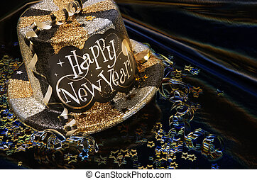 New Year\'s Celebration! - Glittery new year\'s hat with...