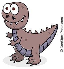 violet dinosaur smiling