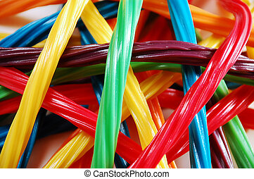 Licorice candy - Colorful ribbons of licorice candy