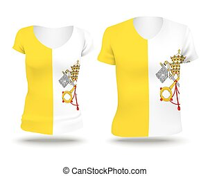 Flag shirt design of Holy See Vatican City - vector...
