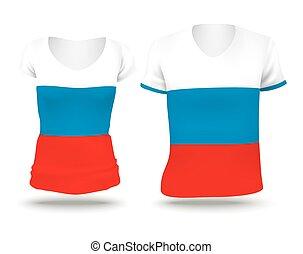 Flag shirt design of Russia