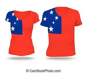 Flag shirt design of Samoa