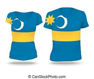 Flag shirt design of Szeklerland