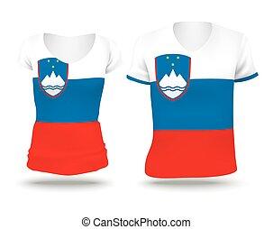 Flag shirt design of Slovenia