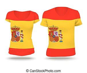 Flag shirt design of Spain
