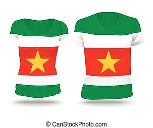Flag shirt design of Suriname