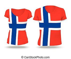 Flag shirt design of Svalbard