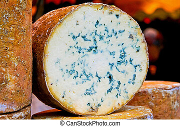 Stilton cheese - Close up shot of blue Stilton cheese