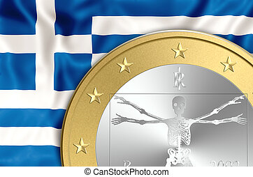 Greece and euro death - Greece euro exit concept, Business...