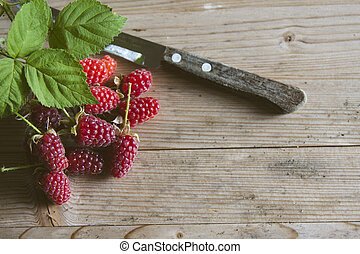 fresh red raspberries recent vintage
