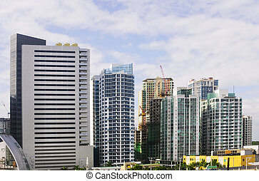 Building - A row of buildings in an urban area in Metro...