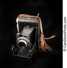 Vintage photo camera with bellows - Vintage analog photo...