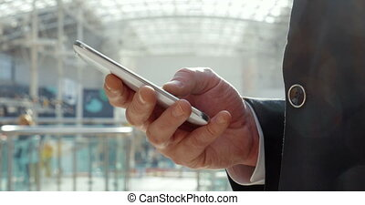 Businesspeople always keep in touch - Close-up shot of a...