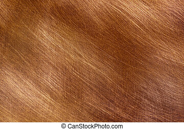 Brushed Cppper - Background of brushed copper, in...