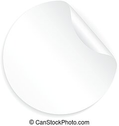 White blank sticker paper on white background