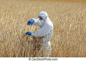 technician on field - biotechnology engineer on field...